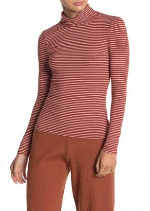 Elodie K Long Sleeve Stripe Print Turtleneck