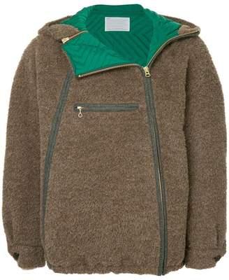 Kolor double zip hooded jacket