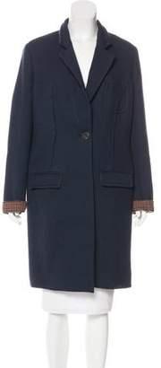 Mantu Virgin Wool Notch-Lapel Coat