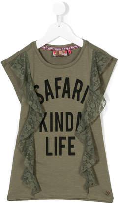 Vingino Safari Kinda Life lace trim top