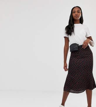 Glamorous Tall midaxi skirt in ladybird print satin