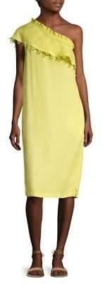 Apiece Apart Raina Ruffled One-Shoulder Dress