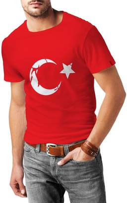 lepni.me N4128 T-shirt male Turkey ( Black Silver)