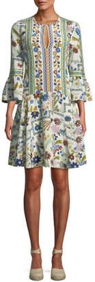 Tory Burch Daphne Meadow Floral Silk Dress