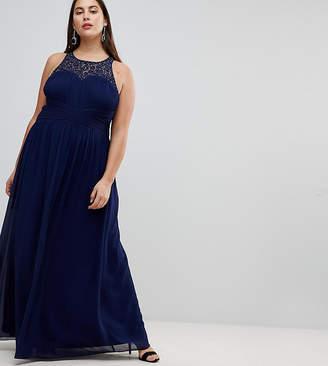 Little Mistress Plus Maxi Dress With Embellishment