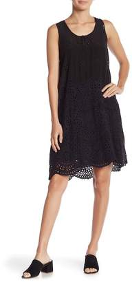 Johnny Was Eyelet Lace Tank Dress