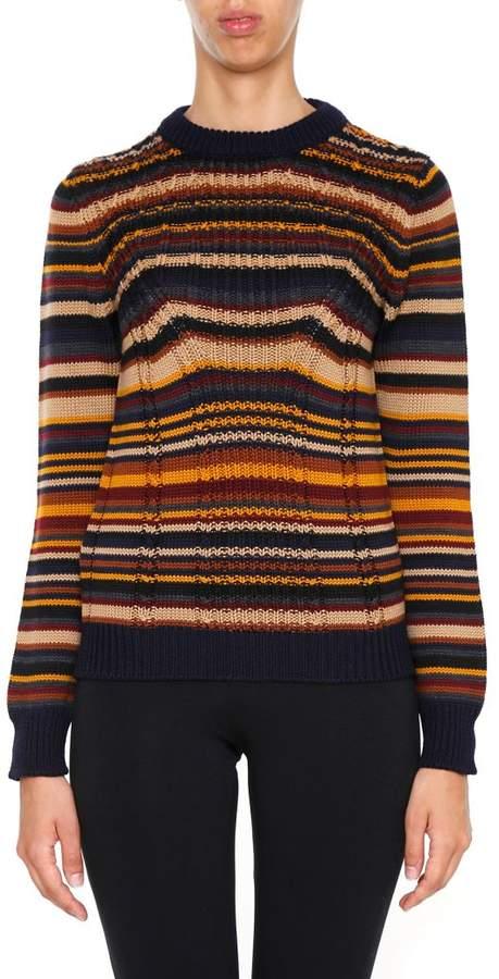 Multi Stripe Wool Pullover