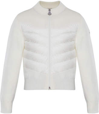 Moncler Knit Stand-Collar Zip-Front Jacket, Size 8-14
