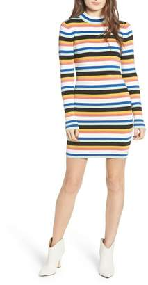BP Stripe Mock Neck Sweater Dress