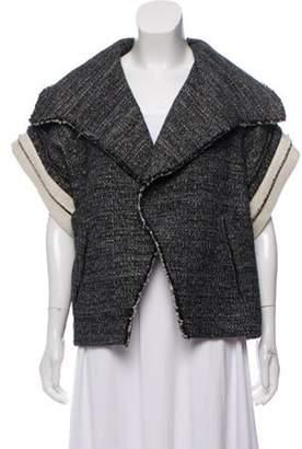 IRO Short Sleeve Tweed Jacket Black Short Sleeve Tweed Jacket