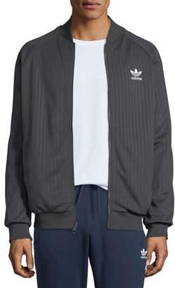 adidas Men's Warped Stripes Reversible Track Jacket