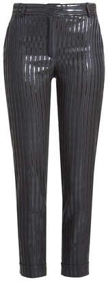 Carven Striped Metallic Pants