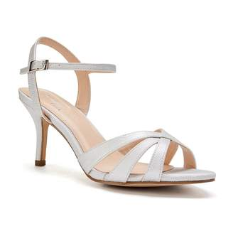 Paradox London Hero Wide Fit Silver Low Heel Strappy Sandals