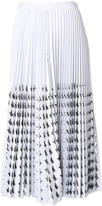 MSGM cut-out houndstooth skirt
