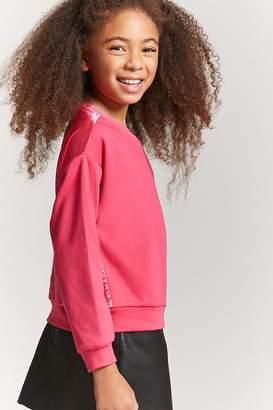 Forever 21 Girls Satin-Back Sweatshirt (Kids)