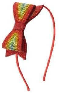 Bari Lynn Kid's Crystal Bow Headband