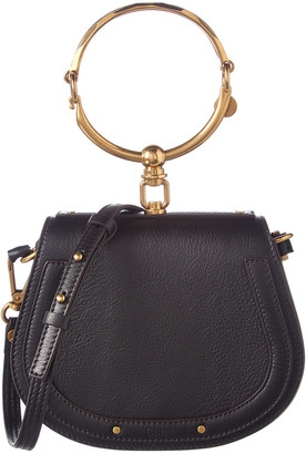 Chloé Nile Small Leather & Suede Bracelet Bag