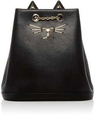Charlotte Olympia Feline Leather Backpack