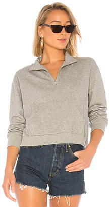 Bobi Terry Half Zip Sweatshirt