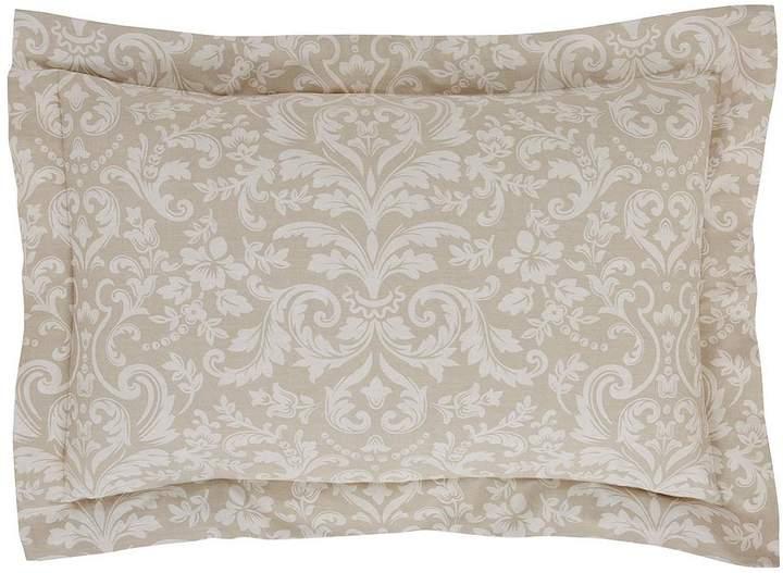 Antique Floral 100% Cotton Sateen 300 Thread Count Oxford Pillowcase Pair