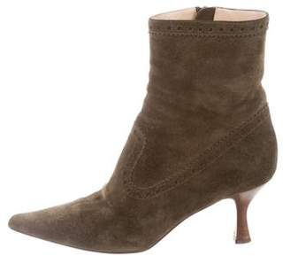 Michael Kors Suede Pointed-Toe Boots