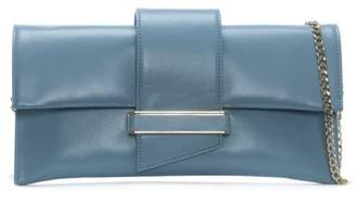 Daniel Alike Blue Leather Envelope Clutch Bag