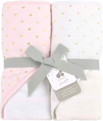Just Born Baby's Sparkle 2-Pack Cotton Terry Cloth Hooded Towels