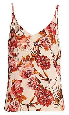 L'Agence Women's Gabriella Rose Silk Tank Top