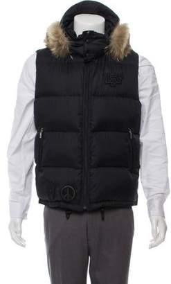 Lucien Pellat-Finet Down Fur-Trimmed Vest