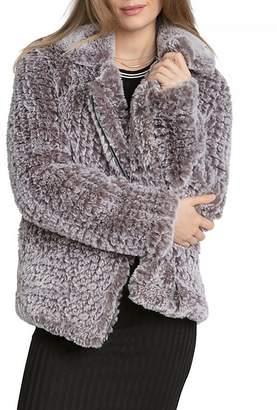 AVEC LES FILLES Faux Fur Jacket