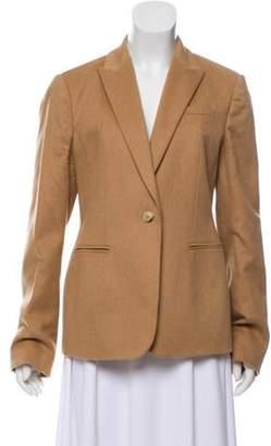 Gucci Camel Peaked-Lapel Blazer wool Camel Peaked-Lapel Blazer