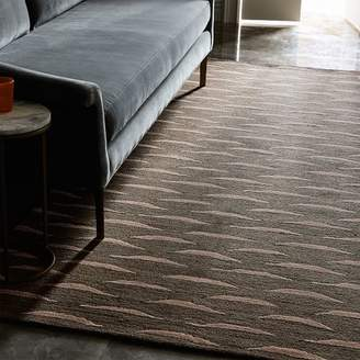 west elm Tiger Stitch Rug - Charcoal
