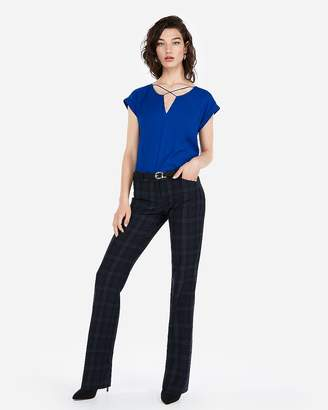 Express Solid Strappy Cross Front Gramercy Tee