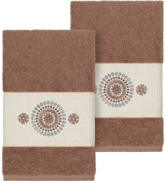 Isa Belle Linum Home Textiles Turkish Cotton Isabelle Embellished Hand Towel Set