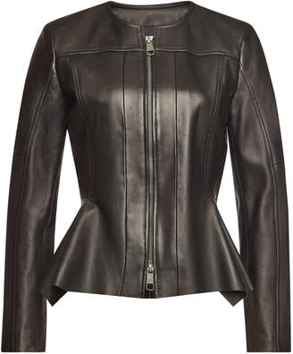 BOSS Sahada Leather Biker Jacket
