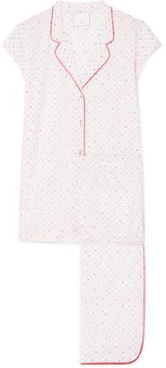 Three J NYC Poppy Polka-dot Cotton-voile Pajama Set - White