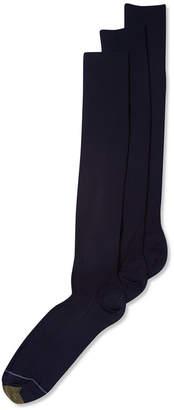 Gold Toe ADC Metropolitan Over the Calf 3 Pack Crew Dress Men's Socks