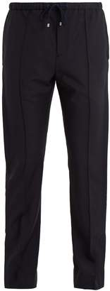 Valentino Pintucked wool-blend trousers