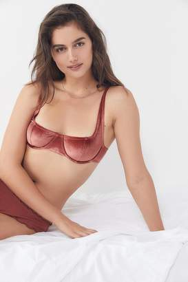 Out From Under Marie Antoinette Velvet Balconette Bra