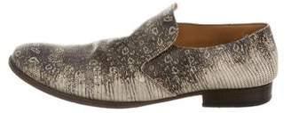Maison Margiela Lizard Round-Toe Loafers