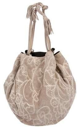 Prada Suede Drawstring Shoulder Bag