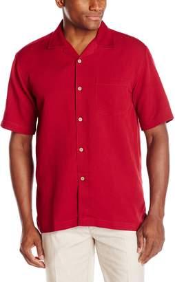 Cubavera Cuba Vera Men's Bedford Cord Short Sleeve Woven Shirt