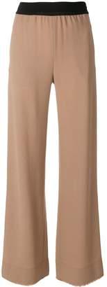 Leroy Veronique elastic waistband flared trousers