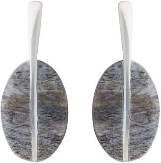 Whistles Made Oval Bone Charm Earring
