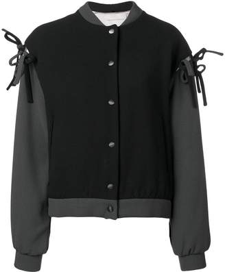 Marco De Vincenzo tie details bomber jacket