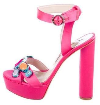 Sophia Webster Embellished Satin Sandals
