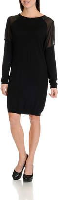 HARVE BERNARD Harve Benard Sheer Sleeve Dress