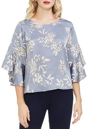 Vince Camuto Etched Bouquet Bell Sleeve Top