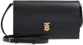Burberry Hazelmere Leather Crossbody Wallet