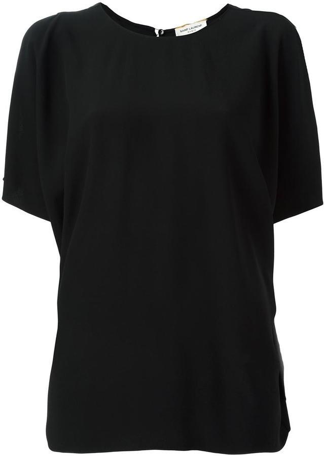 Saint LaurentSaint Laurent open shoulder dolman sleeve top